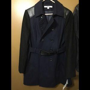 DKNY NWT blue and black coat